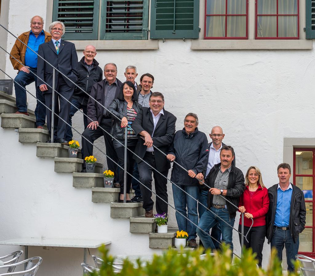 Von links nach rechts: Roman Kiener, René Dürr, Heinz Bergmann, Walter Wattenhofer, Edith Ziegler, Christian Egli (hintere Reihe), Michael Schwyter (hintere Reihe), Philip Hänggi, Paul Schwyter, Jürg Girschweiler, Rolf Schmalz, Monika Bergmann, Beat Stahel Nicht abgebildet: Anna Barbara Eisl-Rothenhäusler, Stephanie Jenzer